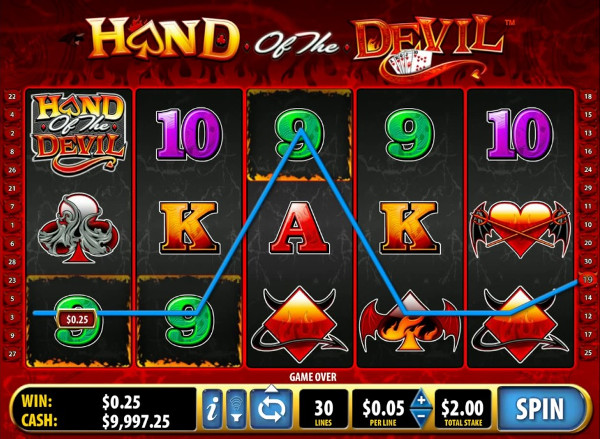 Игровой аппарат Hand of the Devil - в интернет казино играй онлайн и выигрывай по крупному