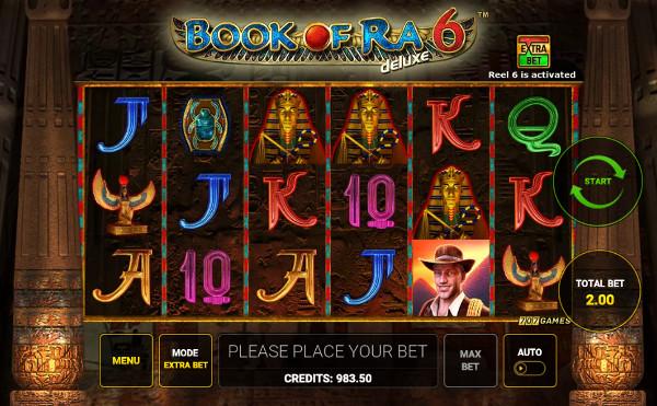 Игровой автомат Book of Ra Deluxe 6 - играть в щедрые слоты Новоматик в Вулкан казино