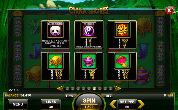 Игровой автомат China Shores - впечатляющие выигрыши в казино Вулкан Старс