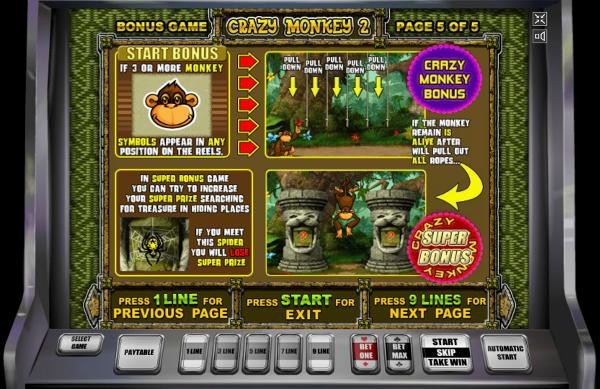 Игровой автомат Crazy Monkey 2 - регулярные выигрыши в казино Вулкан гарантированы