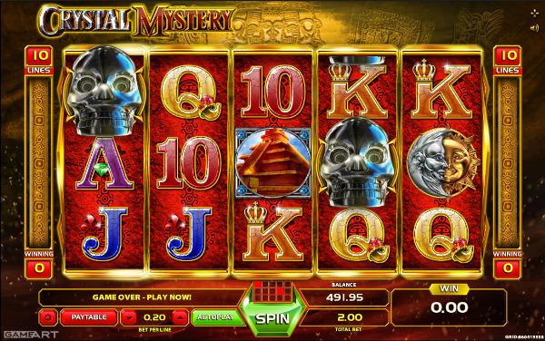 Игровой автомат Crystal Mystery - сокровища таинственного черепа для игроков казино Вулкан
