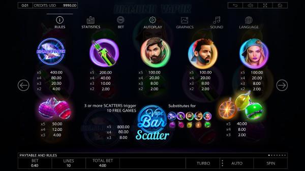 Игровой автомат Diamond Vapor - в казино спин сити крупно выиграй