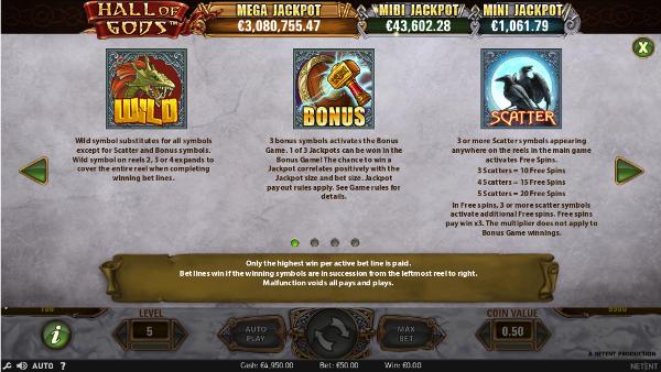 Игровой автомат Hall of Gods - выиграй золото у викингов в казино Вулкан 24