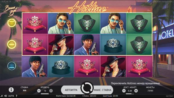 Игровой автомат Hotline - в онлайн слотах Вулкан Россия казино поймай удачу