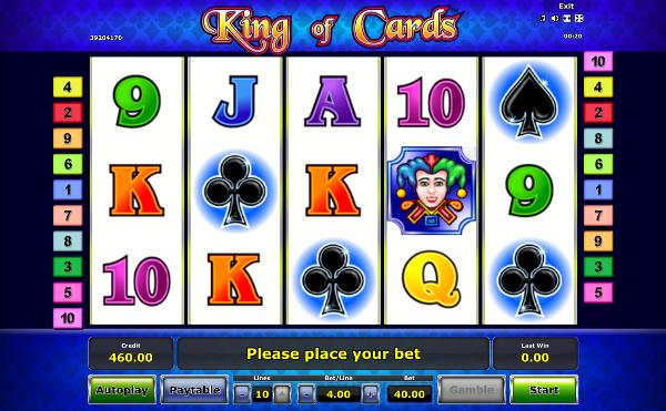 Игровой автомат King of Cards - слот который удивляет щедростью в казино Вулкан 24