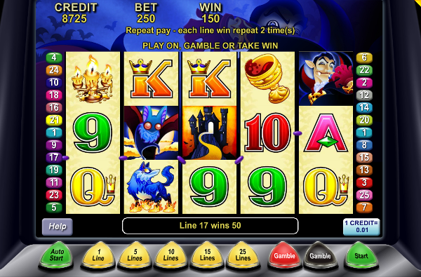 Игровой автомат Lucky Count - сокровища вампиров для игроков казино Вулкан Платинум