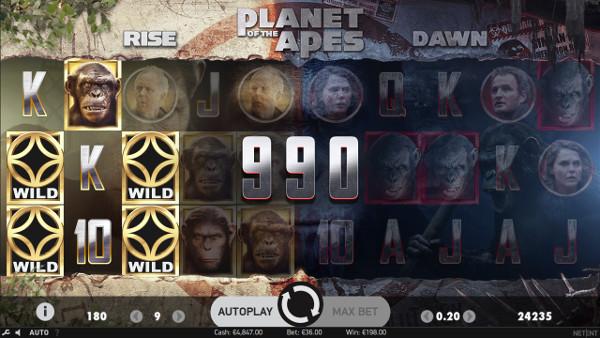 Игровой автомат Planet of the Apes - на официальный клуб Вулкан играть онлайн