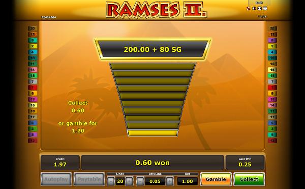 Игровой автомат Ramses 2 - за египетскими сокровищами в казино Вулкан 24