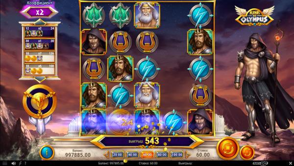 Игровой автомат Rise Of Olympus - в казино Адмирал Икс сорви джекпот