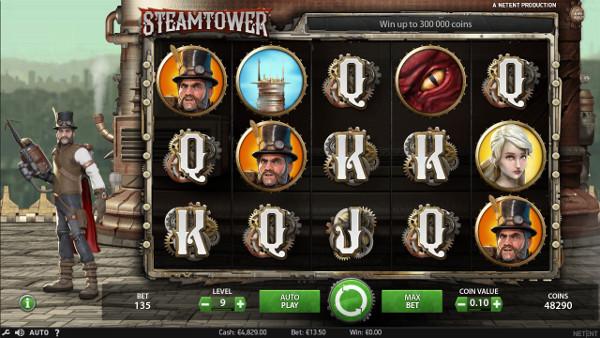 Игровой автомат Steam Tower - играть бесплатно или на деньги в Вулкан казино