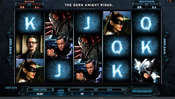 Игровой автомат The Dark Knight Rises - разбогатей с помощью любимых персонажей в казино Вулкан