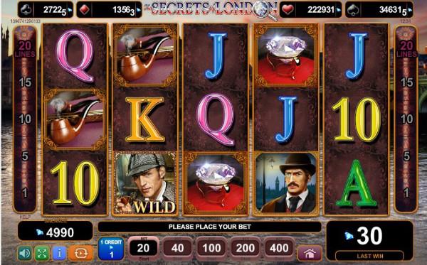 Игровой автомат The Secrets of London - приключения Шерлока Холмса