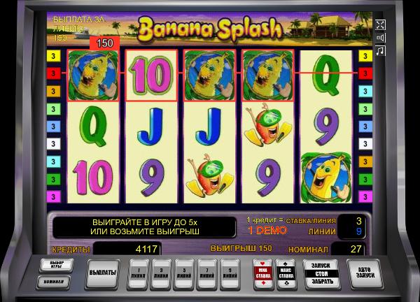Игровой слот Banana Splash - играй онлайн бесплатно в казино Вулкан 24