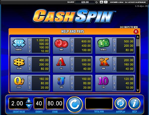 Игровой слот Cash Spin - удача на стороне игрока в казино Оригинал777
