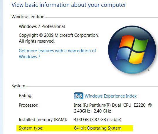 Как с 32 разрядной системы сделать 64 windows 7