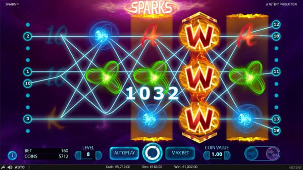 Вулкан Гранд зеркало доступно для игры в автомате Sparks круглосуточно