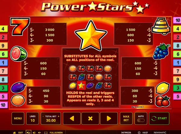 Выиграй на игровом автомате Power Stars в Вулкан Гранд - официальный сайт казино